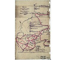 190 Map of the Loup-Piney Divide coal lands in Fayette and Raleigh cos West Virginia 1 Photographic Print