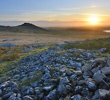 Cornwall: Sunset at Roughtor by Rob Parsons