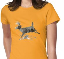 Deer and snow Womens Fitted T-Shirt