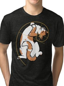 Fibonacci Cat - The Golden Ratio Tri-blend T-Shirt