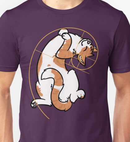 Fibonacci Cat - The Golden Ratio Unisex T-Shirt