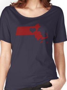 I Left My Heart in Massachusetts - Red Women's Relaxed Fit T-Shirt