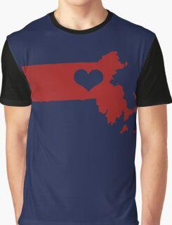 I Left My Heart in Massachusetts - Red Graphic T-Shirt
