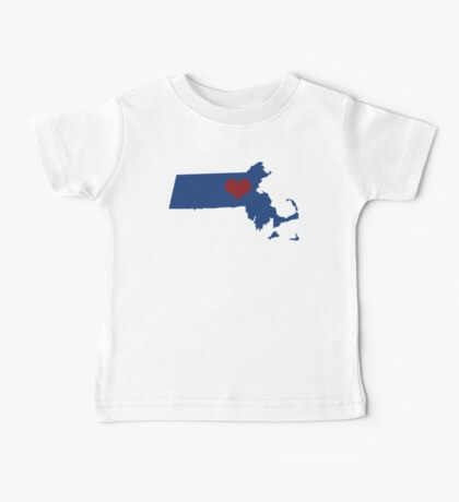 I Left My Heart in Massachusetts - Blue alternate Baby Tee
