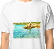 Island Caprera: sea landscape and rock Classic T-Shirt