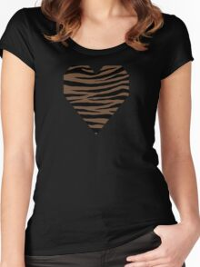 0140 Coffee or Tuscan Brown Women's Fitted Scoop T-Shirt