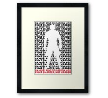 MMA Fight Smarter, Not Harder Framed Print