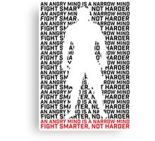 MMA Fight Smarter, Not Harder Canvas Print