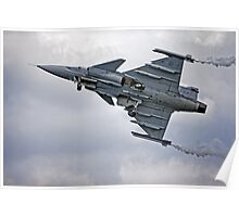 Swedish Air Force Saab JAS 39C Gripen  Poster