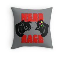 NERD RAGE Throw Pillow