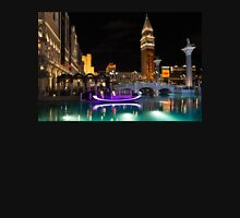 Lighting Up the Night in Neon - Colorful Canals and Gondolas at the Venetian Las Vegas Unisex T-Shirt