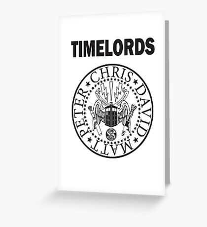 Time Lords 3 Greeting Card