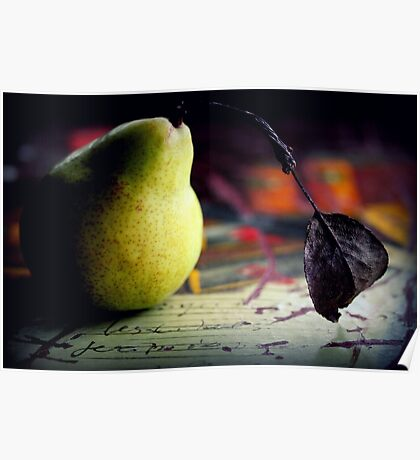 The Pear And The Leaf Poster