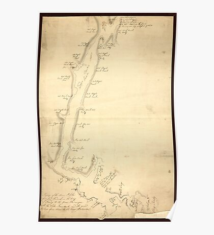 American Revolutionary War Era Maps 1750-1786 908 Survey of the River St Johns from Fort Frederick in the Bay of Fundy to the River Medauesqua with the Lake Poster