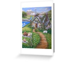 Cottage Lane Greeting Card