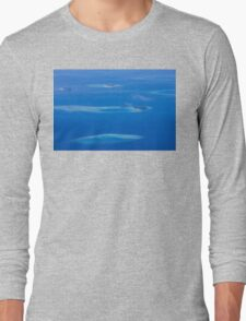 North Ari Atolls in Maldives - aerial view over Eden on Earth Long Sleeve T-Shirt