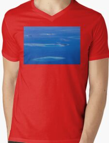 North Ari Atolls in Maldives - aerial view over Eden on Earth Mens V-Neck T-Shirt