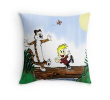 calvin and hobbes Throw Pillow