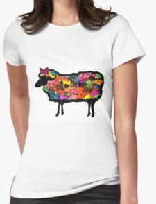 Psychedelic Black Sheep Womens Fitted T-Shirt