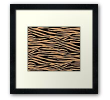 0437 Brown-Nose, Flattery or Kobicha Tiger Framed Print