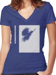 Invisible brush? Women's Fitted V-Neck T-Shirt