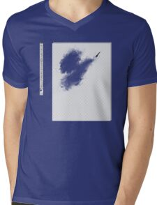 Invisible brush? Mens V-Neck T-Shirt