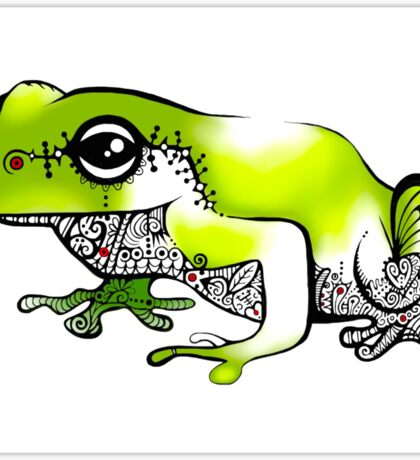 Froggy went a' courting! Sticker