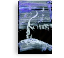 0039 - Brush and Ink - Lamp Lighting Canvas Print