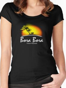 French Polynesia Women's Fitted Scoop T-Shirt