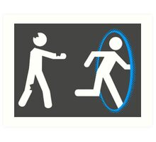 In Case of Zombies Use Portals Art Print