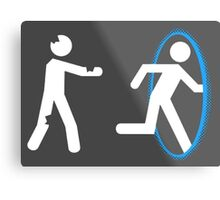 In Case of Zombies Use Portals Metal Print