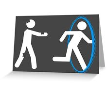 In Case of Zombies Use Portals Greeting Card