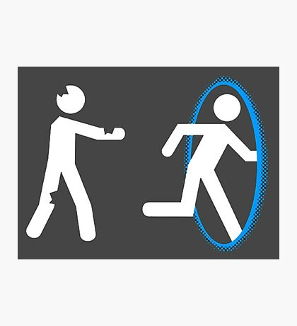 In Case of Zombies Use Portals Photographic Print