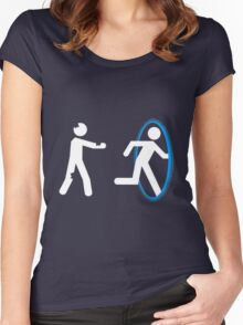 In Case of Zombies Use Portals Women's Fitted Scoop T-Shirt
