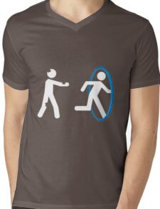 In Case of Zombies Use Portals Mens V-Neck T-Shirt