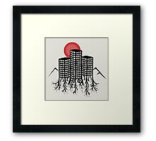 Skyline Trees Framed Print