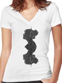 Architecture Portrait Women's Fitted V-Neck T-Shirt