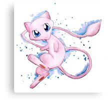 Watercolor Pokemon - Mew #151 Canvas Print