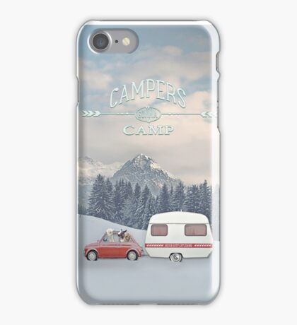 CAMPERS GONNA CAMP by Monika Strigel iPhone Case/Skin