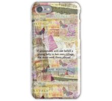Jane Austen travel adventure quote iPhone Case/Skin