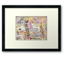 Jane Austen travel adventure quote Framed Print