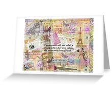 Jane Austen travel adventure quote Greeting Card