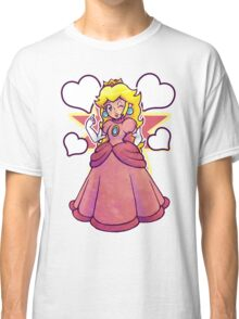 Hearts and Princess Peach Classic T-Shirt
