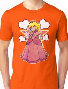 Hearts and Princess Peach Unisex T-Shirt