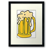 Beer Cup Framed Print