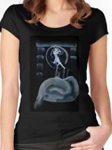 0045 - Brush and Ink - Post Drill Women's Fitted Scoop T-Shirt