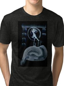 0045 - Brush and Ink - Post Drill Tri-blend T-Shirt
