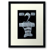 0038 - Brush and Ink - Corsetry Framed Print