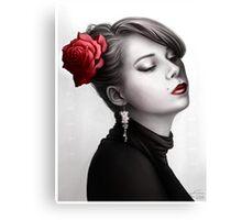 Vintage Portrait - Pop of Color Canvas Print