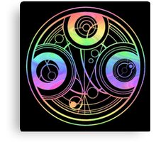 Rainbow Gallifreyan Doctor Who Canvas Print